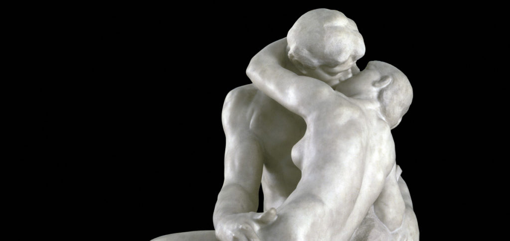 The Kiss by Rodin in Treviso